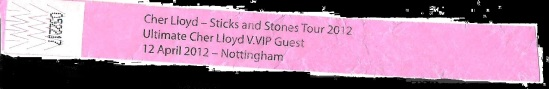 myblogaboutcherlloydcom 120412 Nottingham Wristband (1) Shadow