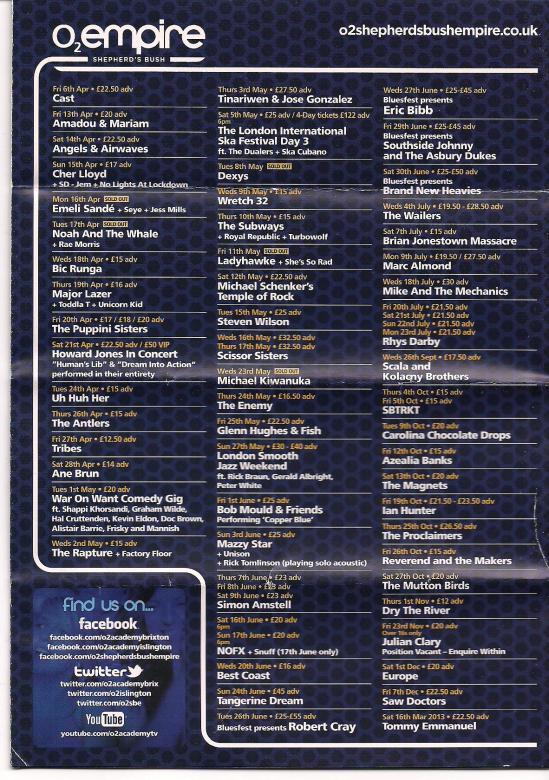 myblogaboutcherlloydcom 120415 Shepherds Bush Flyer (2)