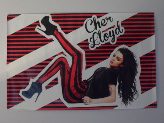 myblogaboutcherlloydcom Stripey Poster brought in Nottingham 120412